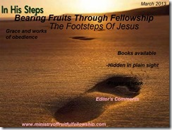 in his foot steps